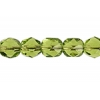 Fire polished 6mm Olivine Strung